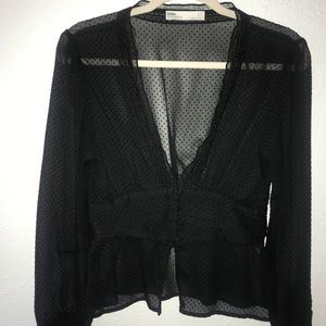 Deep-V blouse from Zara!